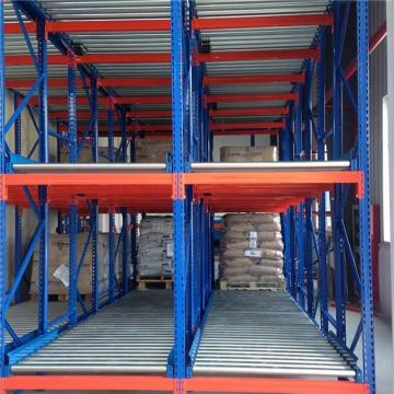 Sliding rack shelving storage roller track rails