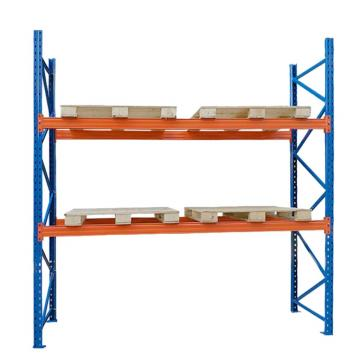 Industrial sliding carton gravity roller shelf