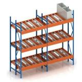 Maxrac carton flow rack with dynamic plastic rollers