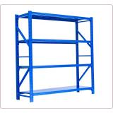 Black custom small light duty 3 tier metal shelf for warehouse / steel frame warehouse storage rack