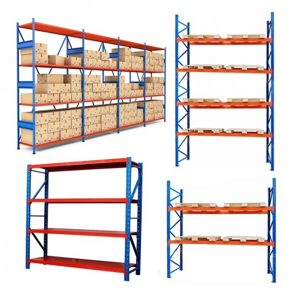 2 ton capacity used forklift warehouse storage heavy duty stackable drive-in steel teardrop industrial pallet rack system #3 image