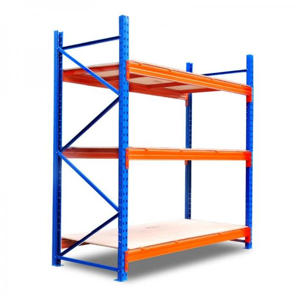 industrial heavy duty metal shelving with steel board or plywood board #3 image