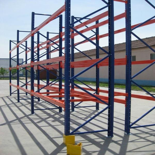 industrial heavy duty metal shelving with steel board or plywood board #2 image