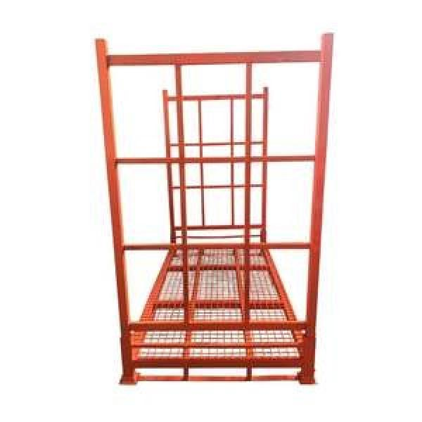 High quality powder coating stacking foldable china fabricated economical steel commercial rack for tires storage #1 image
