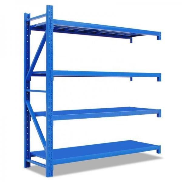Double Sided Metal Supermarket Display Rack Grocery Shelf #1 image
